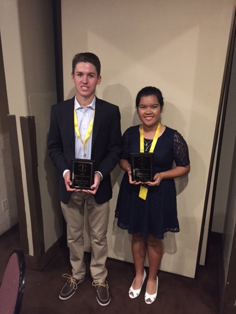 2014 Long Beach Century Club Golfers of the Year - Ali Morallos and Hunter Epson