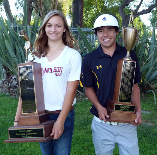 2011-12 Moore League Individual Champions - Alexis Hayes and Andrew Morgan