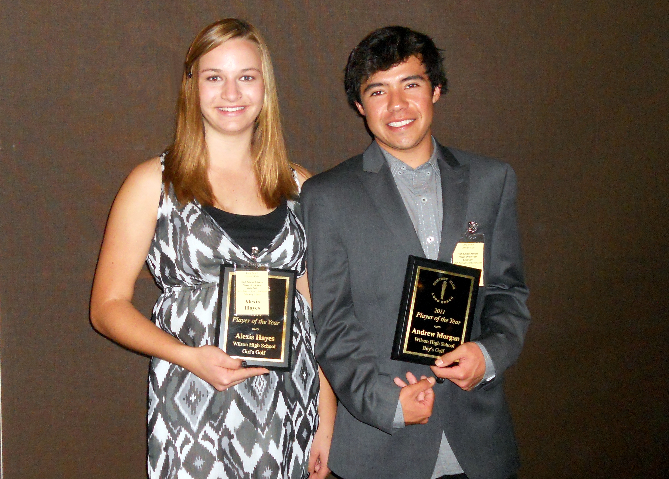 2011 LB Century Club Golfers of the Year - Alexis Hayes and Andrew Morgan