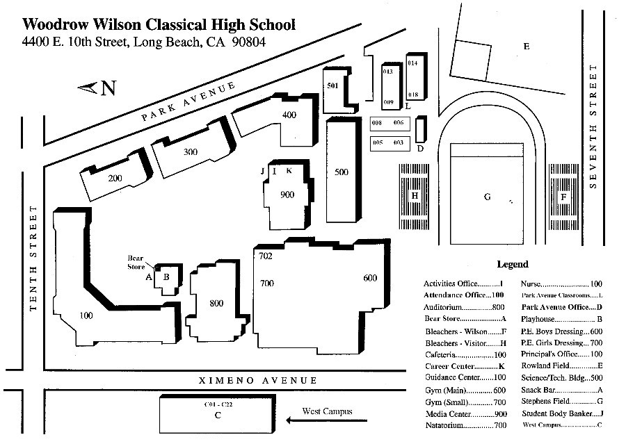 Wilson Classical High School Map