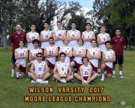 Moore League Champions - 2017 Varsity Volleyball Team