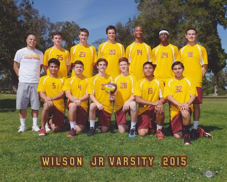 2015 Wilson JV Team with Coach Noel Llopis