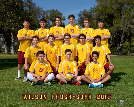 2015 Frosh Soph Volleyball Team