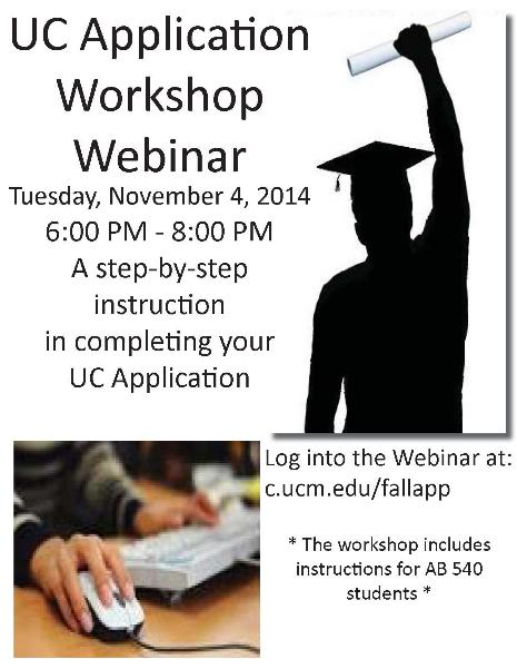UC APPLICATION WORKSHOP WEBINAR